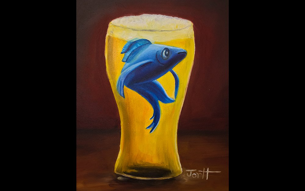 Oh Bartender, There's a SBlue Fish in my Beer.